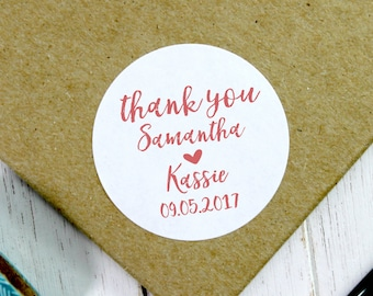 Wedding Stickers, Wedding Favor Stickers, Wedding Thank You Stickers, Wedding Labels, Wedding Favor Stickers, Wedding Favour (11-0001-040)