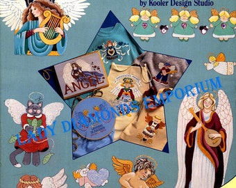 Angels, Vintage Iron On Transfers for Painting & Embroidery by Kooler Design Studio, 160 Page Book, Over 250 Designs #8840