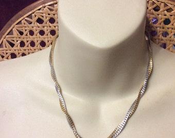 Avon herringbone necklace.