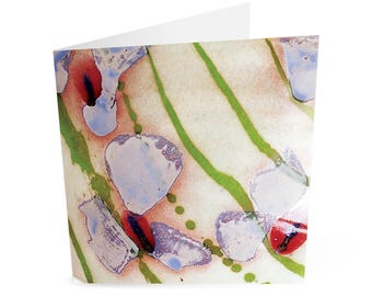 Greetings Card - Flower pattern bowl