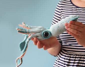 Percy The Squid - Amigurumi Pattern