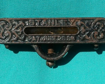Antique Stanley Cast Iron Working Pocket Level Patented June 23 1896