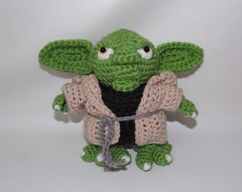 Yoda #crochet #juguete 17cm #tejido