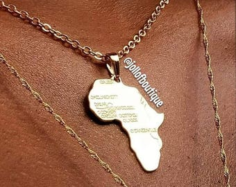 Africa Necklace (Gold)