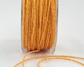 CLEARANCE - Paper Cord in Orange - 5 Yd Bundle