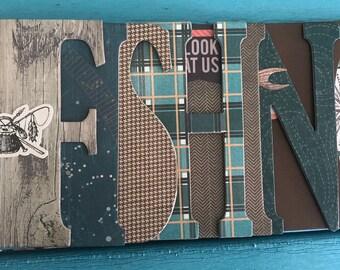 Fishing Mini Scrapbook Album