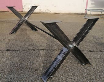 Industrial X table legs