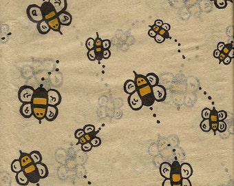 Bumble Bee  Tissue Paper,Exclusive Tissue Paper , Made in USA, Vintage Look  10 sheets  Gift Wrap