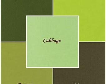 Earthy Green 5 pc. Fabric Bundle, Robert Kaufman Fabrics, Choose Your Bundle Size