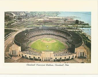 "1990 Postcard- Vintage View of Cleveland Municipal Stadium, Indians, Cleveland, Cuyahoga County, Ohio, OH.  ~5""x 7"", Outstanding Condition"