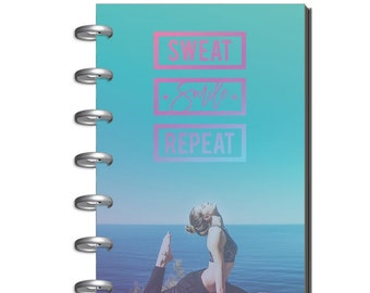 Mini Happy Planner Undated Sweat Smile Repeat | Fitness Planner | MAMBI | Health Planner | Gym Planner | Exercise Planner