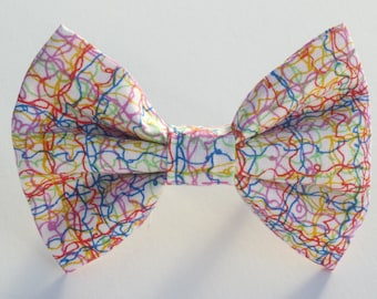 Rainbow Squiggles Bow Tie- X SM to Med