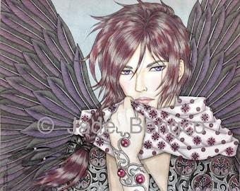 DARK ANGEL ARAEL Limited Edition Fantasy Art Print