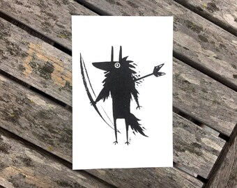Arrow Wolf Print