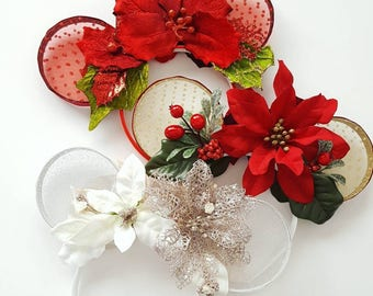 Lace Christmas Mouse Ears