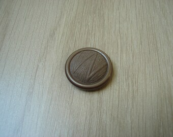 vintage beige tail domed button