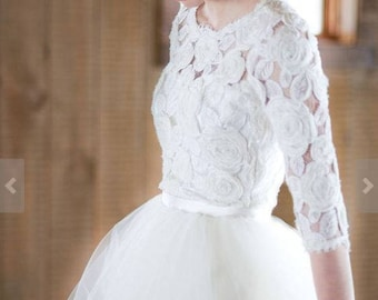 Two in one wedding dress, separate wedding dress, boho bride, lace bride, wedding dress, tulle skirt, lace top bride, bridesmaid dress