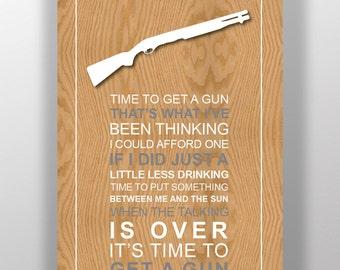 Miranda Lambert - Lyric Poster Print - Time To Get A Gun
