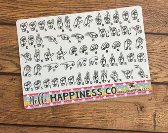 American Sign Language Stickers - ASL Alphabet Stickers - Planner Stickers - Functional Stickers