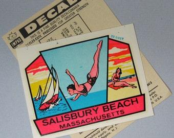 Beach Decal Travel Decal Souvenir Decal Salisbury Beach MA Water Slide Summer Decal Swimming Ocean Seaside Coastal