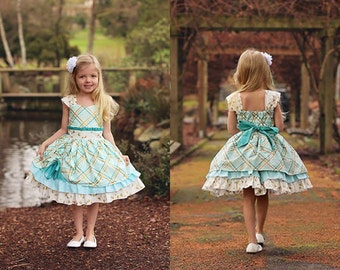 Larkin's Fancy Party Dress PDF Pattern Sizes 6-12m to 8 girls