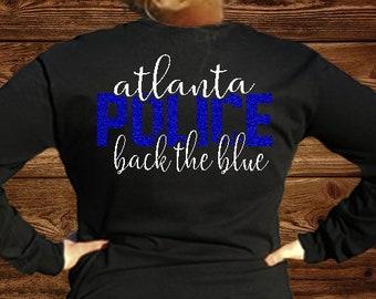 Back The Blue Long Sleeve Tee
