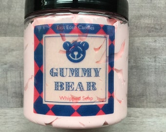 Gummy Bear Soap, Candy Soap, whipped soap, gummy bear whipped soap