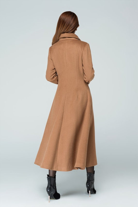 coat wool coat party line long winter wool coat cape coat coat wool A coat 1599 brown coat coat wool stylish Camel coat YqwBtx