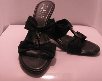 Women's black wedge. Size 7