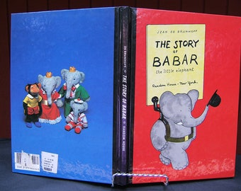 The Story of Babar the Little Elephant Hardcover Jean de Brunhoff | Children's Classic Literature | Illustrated Picture Book