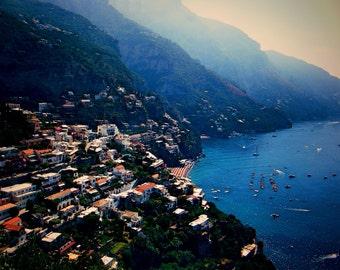 Amalfi Coast travel photography - Capri - Italian decor - wall art hanging - print - beach photography - nautical decor