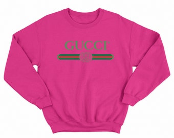 GUCCI Sweatshirt HOT PINK - Gucci Inspired - Gucci Sweatshirt - Gucci -  Limited Time  - Includes Free Shipping - Gucci Vintage