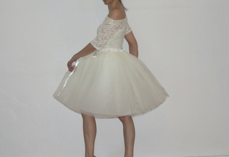 Tulle Petticoat Cream Skirt 55 cm