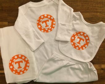 Tennessee Vols Polka Dot Power T Baby Gift Set