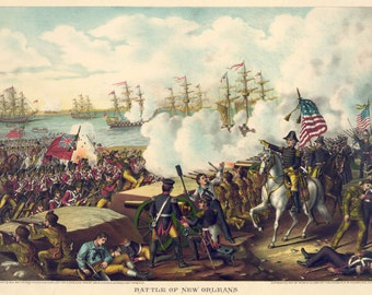 Images of America: The Battle of New Orleans, 1815 - Fine Art Print Reproduction