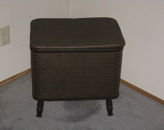Vintage sewing box hamper Redmon crafting storage