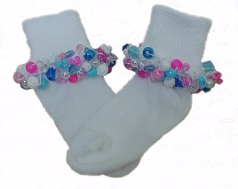 Beaded Socks Crochet Pattern Instructions  DIY Make and sell to boutiques - Instant Download