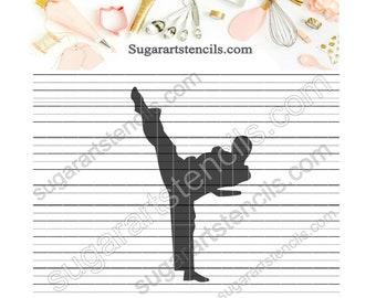 Karate Martial arts cookie stencil RB035