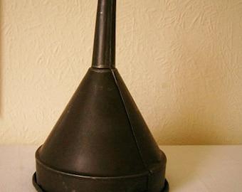 Vintage Large Tin Petrol/Oil Funnel
