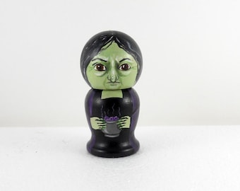 Witch Kokeshi Doll Bette Wooden