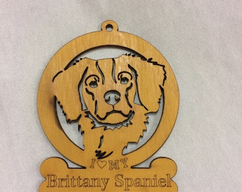 Brittany Spaniel Dog Ornament