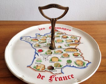 Cheese platter - cheese from France - french - vintage