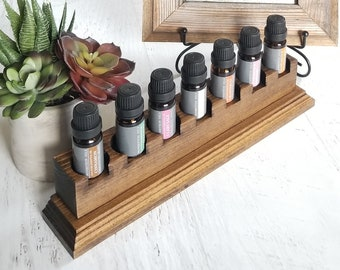 Essential Oil Storage || Essential Oil Organizer, Aromatherapy Storage, Floating Shelf, EO Display, Essential Oil Shelf, Desk Decor