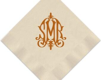 Modern Foil Monogram Napkins, Guest Towels, Wedding Napkins, Party Napkins, Custom Monogram, Assorted Colors for napkin and monogram