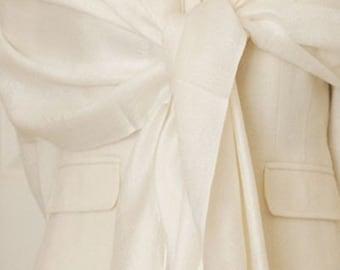 2 ivory paisley shawls