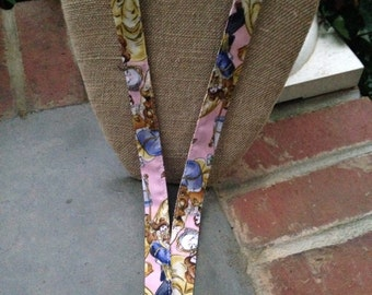 Disney Lanyard Beauty and the Beast Belle Princess Lanyard ID Badge Holder