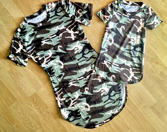 Mother Daughter Matching Dress Mother Daughter Matching Outfit mommy and me mother daughter matching dresses Son Camouflage mothers day gift