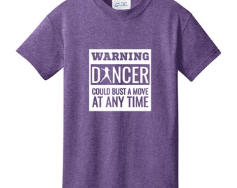 Warning Dancer Could Bust A Move At Any Time - Youth Dancing T-Shirt