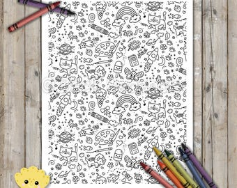 Doodles Printable Coloring Page