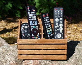 TV Remote Holder, TV Remote Control Caddy, Hardwood TV Remote Holder